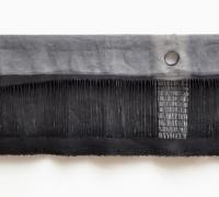 Sluice Creek Cloth: Moon Rise, linen, wire, 240 x 58 cms