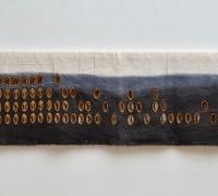 Sluice Creek Cloth: Masts and Halyards 1, linen, wire, 240 x 48 cms