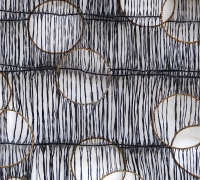 Sluice Creek Cloth: Curlew Song (detail), linen, wire, 320 x 150 cms