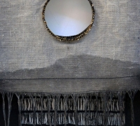 Sluice Creek Cloth: Moon Rise (detail), linen, wire, 240 x 58 cms